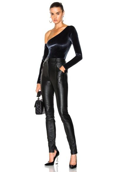 Velvet One Shoulder Bodysuit