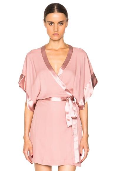 fleur du mal Georgette Kimono in Rose Pink