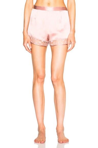 fleur du mal Star Lace Shorts in Rose Pink