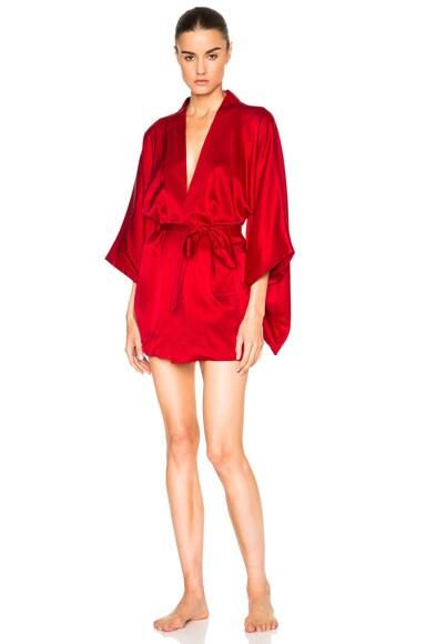 fleur du mal Haori Kimono in Red