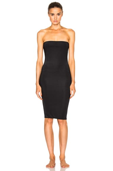 fleur du mal FWRD Exclusive Strapless Bodycon Slip in Black