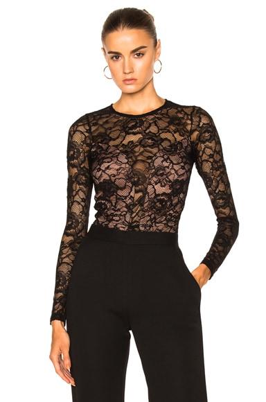 Chat Noir Long Sleeve Lace Bodysuit