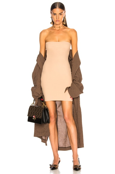 fleur du mal FWRD Exclusive Strapless Bodycon Slip in Nude