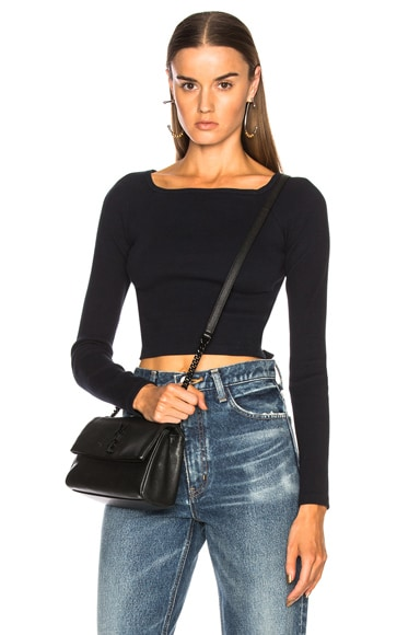 Long Sleeve Knit Top with Back Buckles