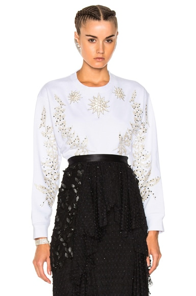 Embellished Crew Neck Sweater