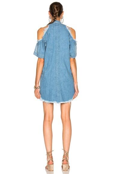Exposed Shoulder Shirt Dress