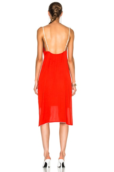 Slip Dress with Piping