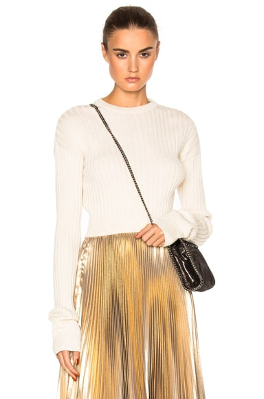 Frankie Cropped Sweater in Ivory
