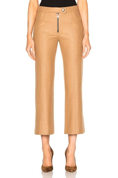 Cropped Wool Flare Pants
