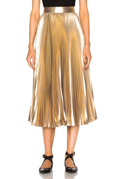 Frankie Pleated Skirt in Light Gold