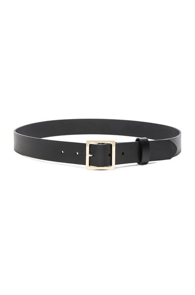 FRAME Denim Classic Square Belt in Noir