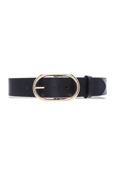 FRAME Denim Oval Belt in Noir