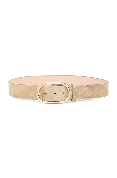 FRAME Denim Oval Belt in Beige
