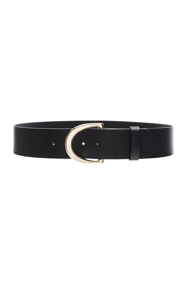 FRAME Denim D Ring Belt in Noir