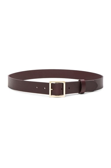 FRAME Denim Classic Square Belt in Mahogany