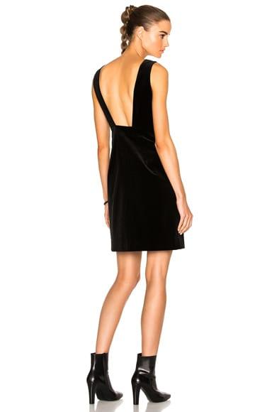 FRAME Denim Velvet Dress in Noir