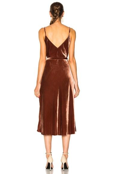 Denim Velvet Slip Dress