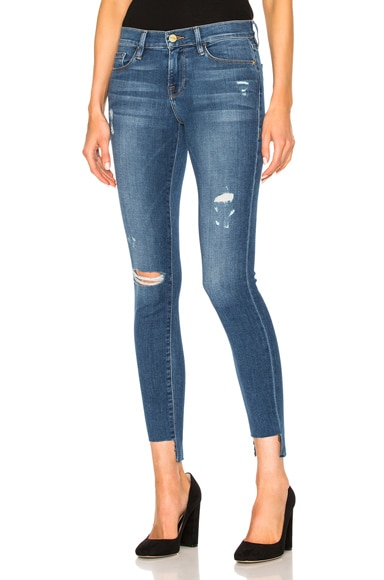 FRAME Denim Le Skinny De Jeanne Stagger in Jewell