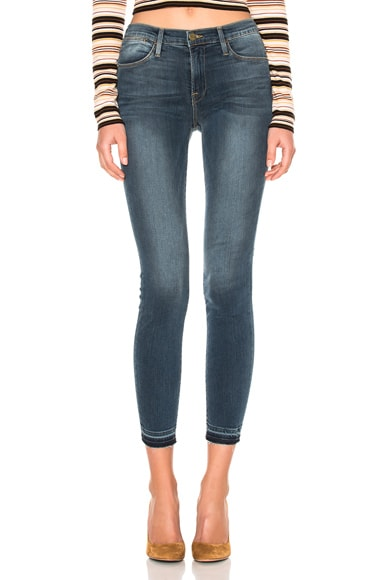 FRAME Denim Le High Skinny Released Hem in Merrick