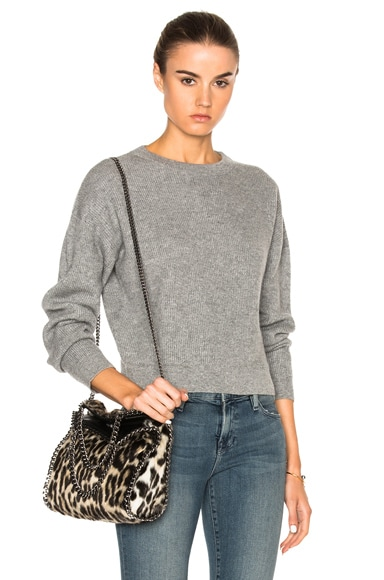 FRAME Denim Cropped Sweater in Grey