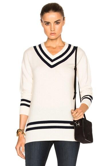 Varsity V-Neck Sweater