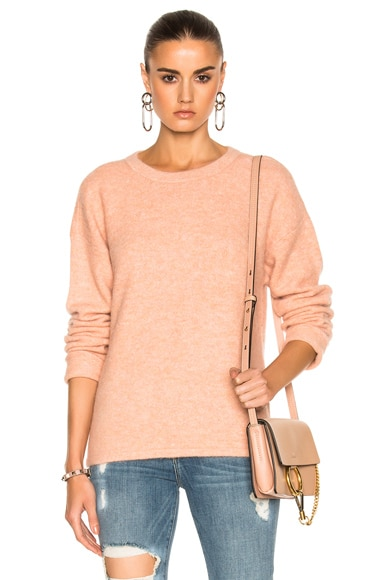 FRAME Denim Boxy Boyfriend Sweater in Dirty Pink