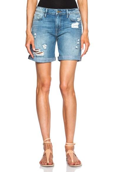FRAME Denim Le Grand Garcon Shorts in Maxella