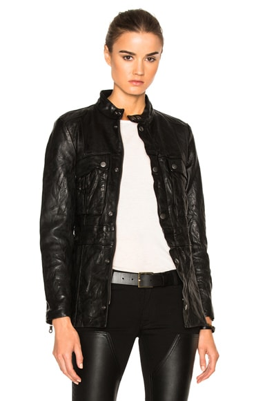FRAME Denim Vintage Jacket in Noir