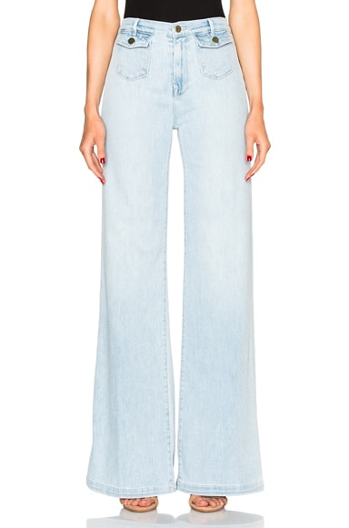 FRAME Denim Soho Trouser Pants in Jones Beach