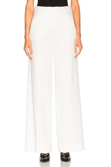 FRAME Denim Tux Pant in Off White