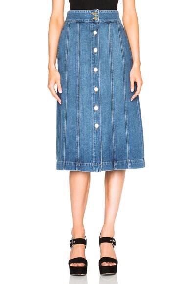 FRAME Denim Panel Skirt in Skylark