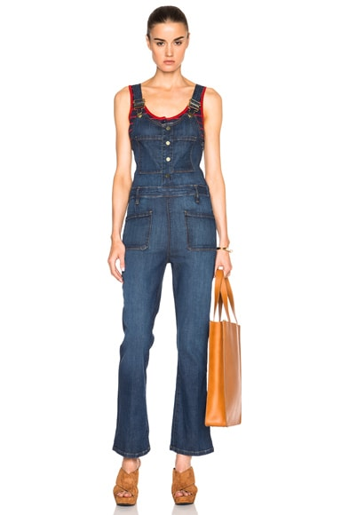 FRAME Denim High Cropped Jumpsuit in Radnor