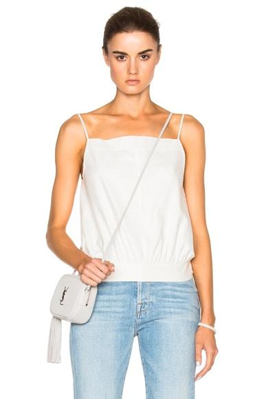 FRAME Denim Silk Top in Blanc