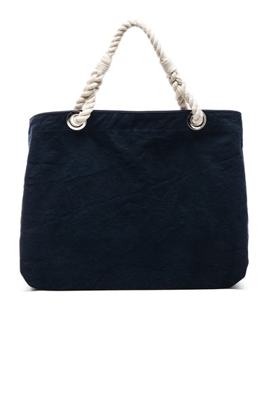 FRAME Denim Beach Bag in Navy