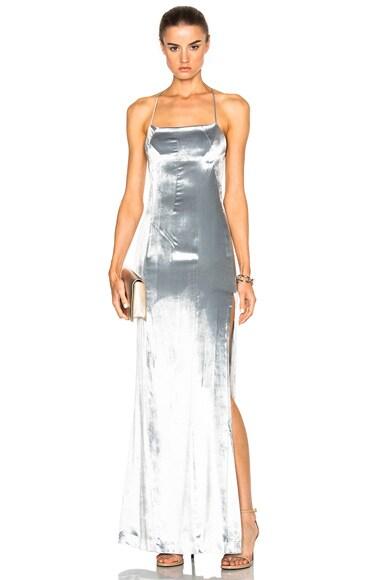 Velvet Spaghetti Strap Dress
