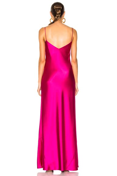 V Neck Satin Slip Dress