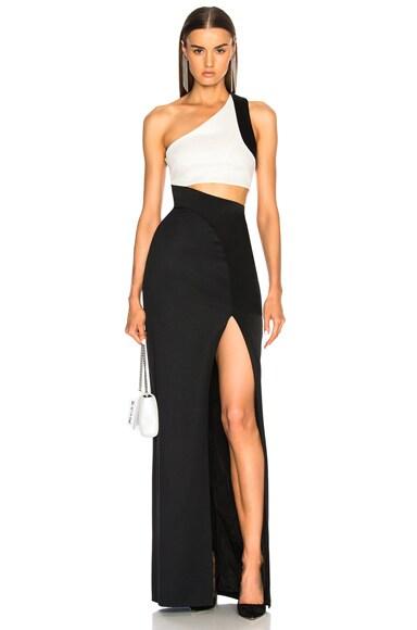Asymmetric Cut Away Dress