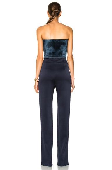 Strapless Velvet Jumpsuit