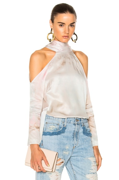 for FWRD Long Sleeve Cold Shoulder Tunic Top