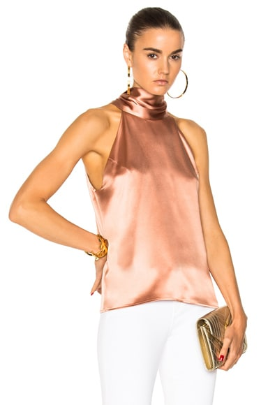 Silk Sash Neck Top