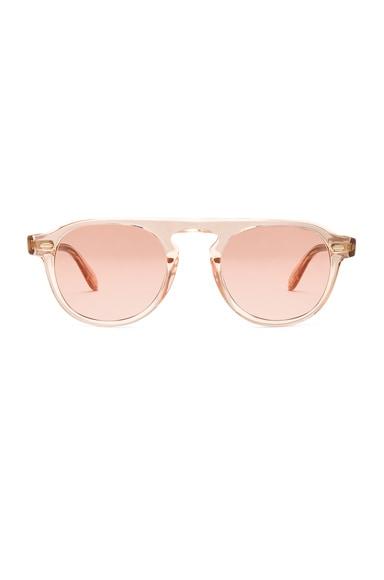 Garrett Leight x Nick Wooster Harding Sunglasses in Rose