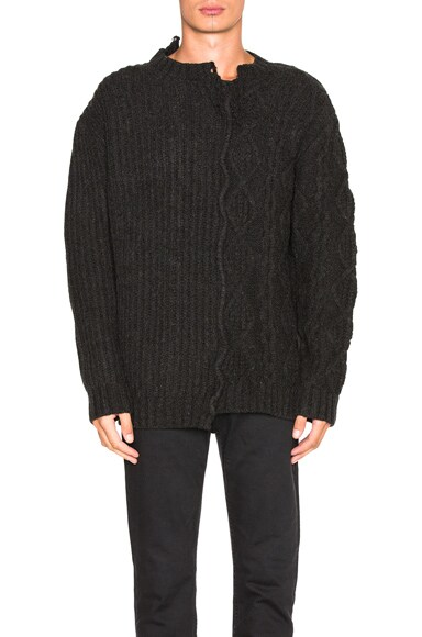 Golden Goose Carson Sweater in Dark Mel Grey