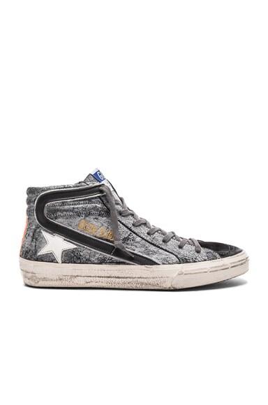 Coated Suede Slide Sneakers