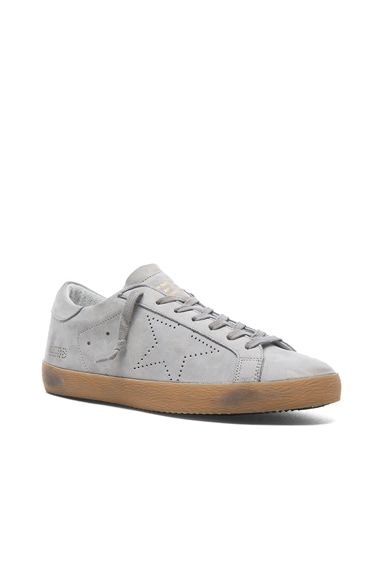 Golden Goose Leather Superstar Low Sneakers in Ice Nabuk Skate
