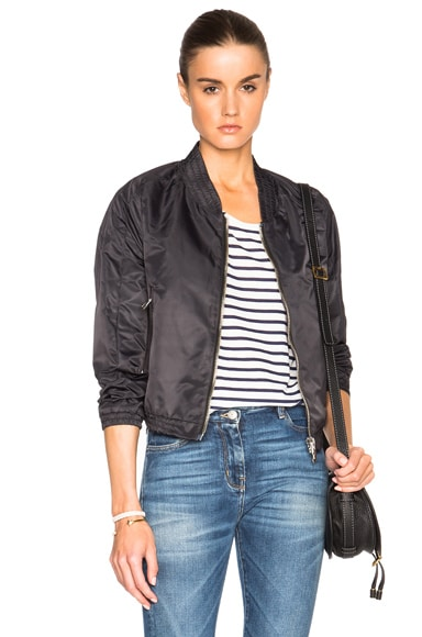 Golden Goose Mandy Bomber in Anthracite