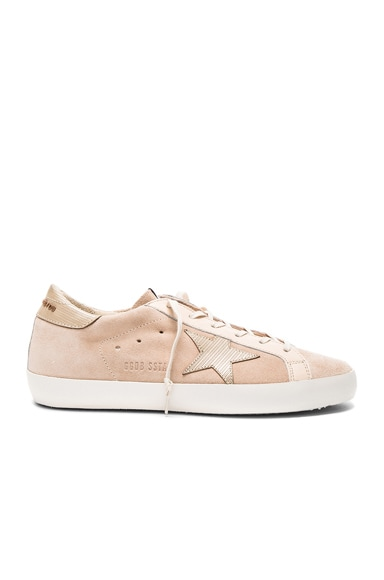 Golden Goose Suede Superstar Sneakers in Nude