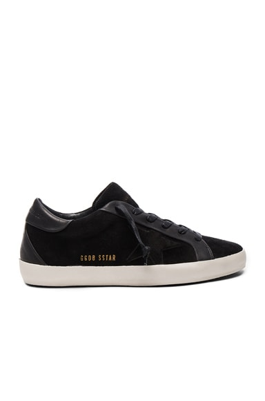 Golden Goose Bespoke Leather Superstar Sneakers in Black
