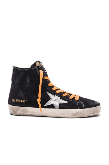 Golden Goose Suede Francy Sneakers in Blue Silver Star