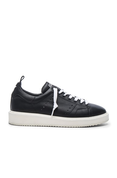 Golden Goose Leather Starter Sneakers in Black & White