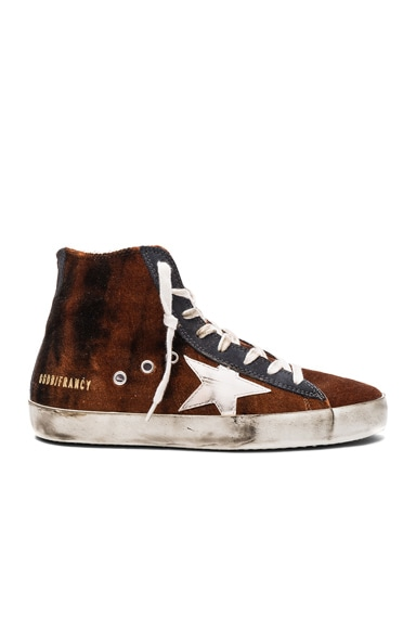 Golden Goose Velvet Francy Sneakers in Acid Velvet